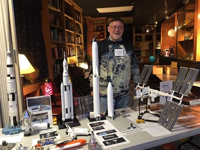 Chuck Schlemm and his exhibit at Vanderbilt's Dyer Observatory.